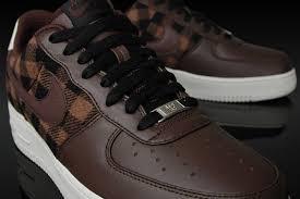 brown nike air force ones