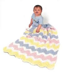 knitted ripple afghan