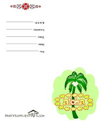 aloha party invitations