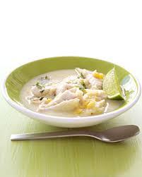 Zuppa di pesce in latte di cocco
