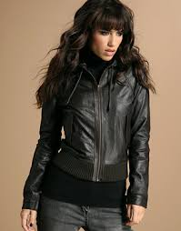 leather jackets hooded