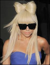 lady gaga bow hair