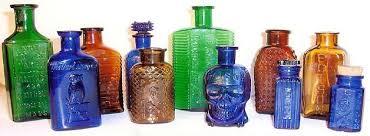 old poison bottles