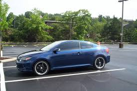 blue car black rims