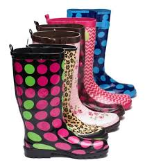 funky rubber boots