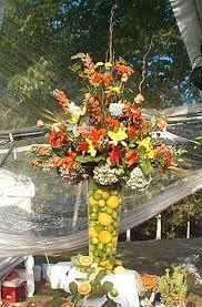 flower arrangements with fruit