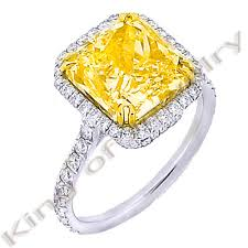canary yellow diamond wedding rings