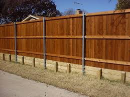 fence retaining wall