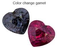 color changing garnet