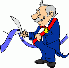 ribbon cutting clipart