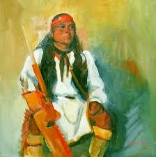 indian warrior paintings