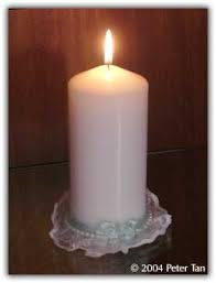 candle for baptism