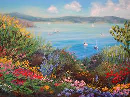 flower garden paintings