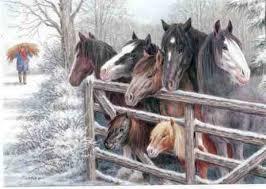 christmas cards horses