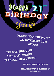 21st birthday invites