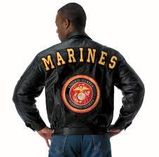 marine leather jacket