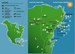 mayan ruins mexico map