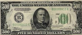 5 hundred dollar bill