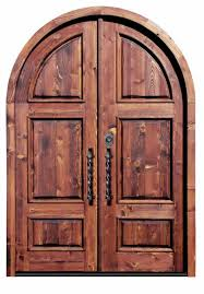 arched wood doors