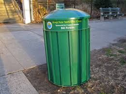 park garbage cans