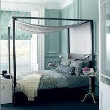 blue and black bedroom
