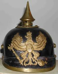 spiked german helmet
