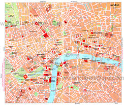 map of london tourist attractions