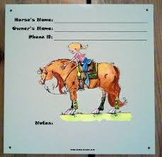 horse stall signs