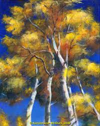 paintings of aspen trees