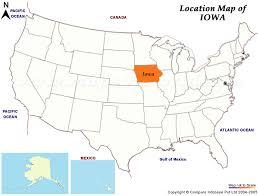 iowa map usa
