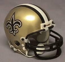 new orleans saints helmet