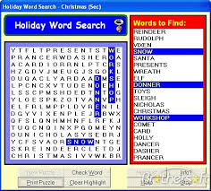 holiday word search