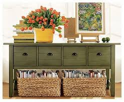 green painted furniture