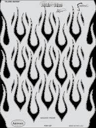 flames stencils