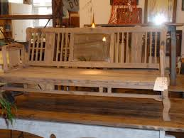 antique wood benches