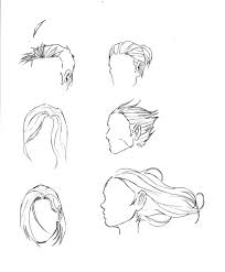 how to draw guys hair