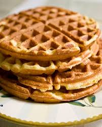 Waffles and apricot syrup
