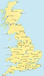 map of england showing cities