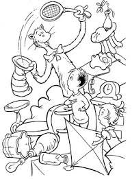 cat in the hat coloring pictures