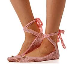 lace up ballerina flats