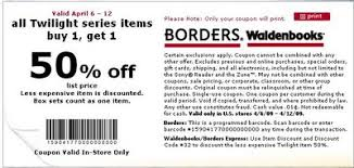 borders coupon 2009