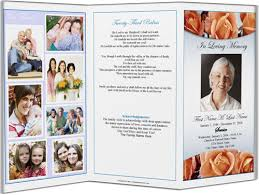 funeral program layouts