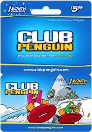 club penguin member ship cards