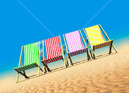 beach deck chairs