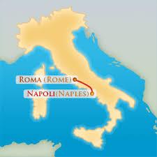 italy naples map