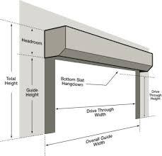 garage doors dimensions