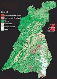 map of chesapeake bay watershed