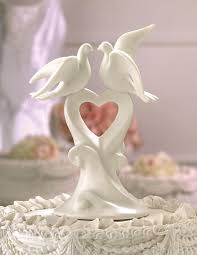 dove wedding cake toppers
