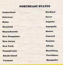 northeast region capitals