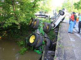 farm tractor crashes
